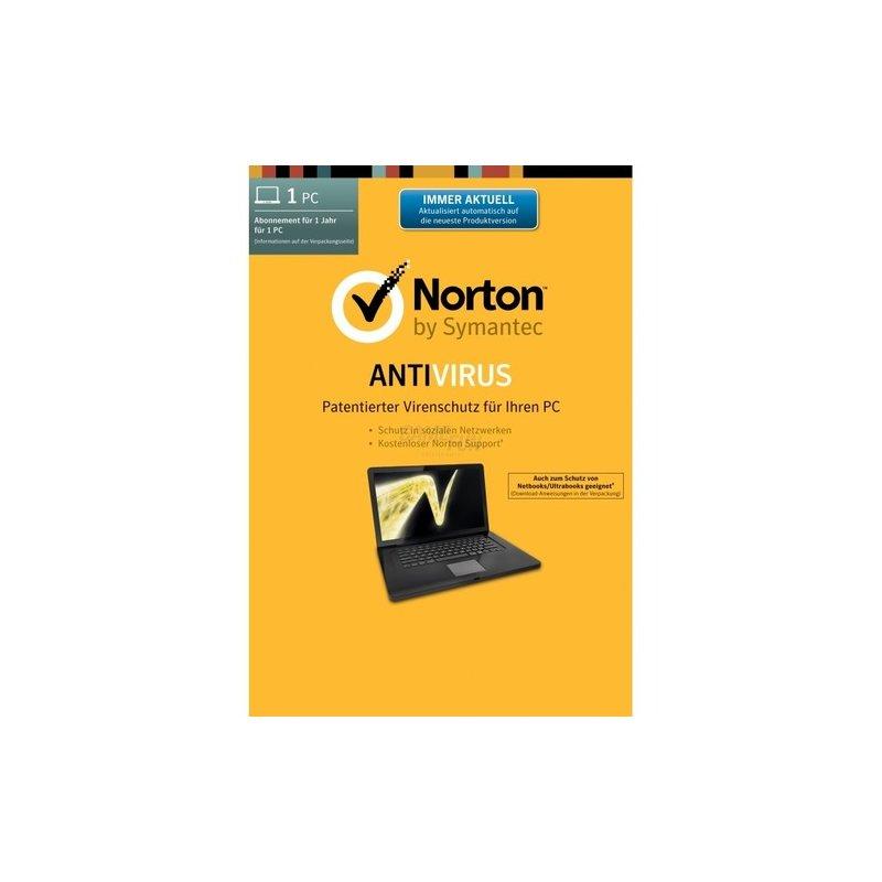 Symantec Norton Antivirus 21.0 SB 1 PC Vollversion EFS DVD 1 Jahr inkl. Update auf Version 22.0