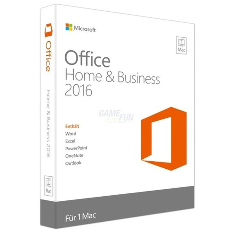 Microsoft Office Mac Home and Business 2016 (DE...