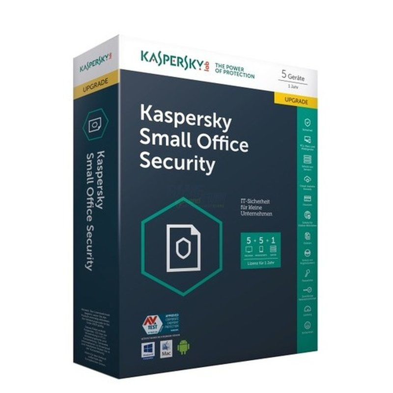 Kaspersky Small Office Security 1 Fileserver + 5 Workstations Update MiniBox