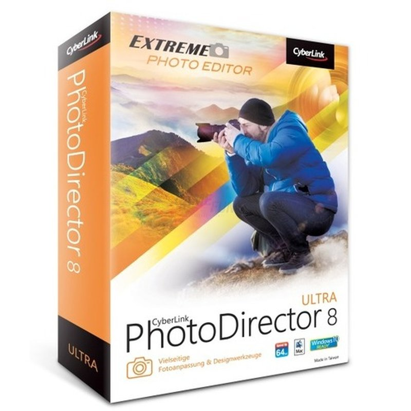 CyberLink PhotoDirector 8 Ultra 1 Benutzer   1 PC oder Mac Vollversion MiniBox