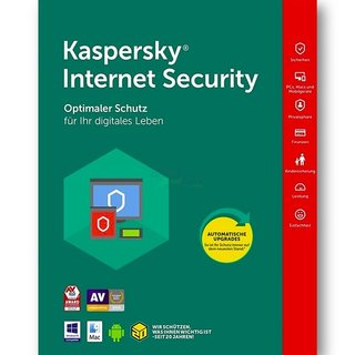 Kaspersky Internet Security 2 Geräte Vollversion GreenIT 1 Jahr Limited Edition für aktuelle Version 2018