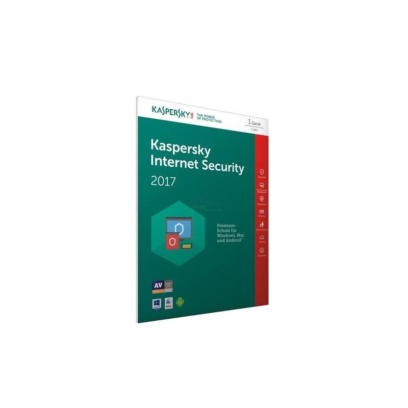 Kaspersky Internet Security 2017 (FFP) 1 Gerät Vollversion PKC 1 Jahr (Code in a Box)