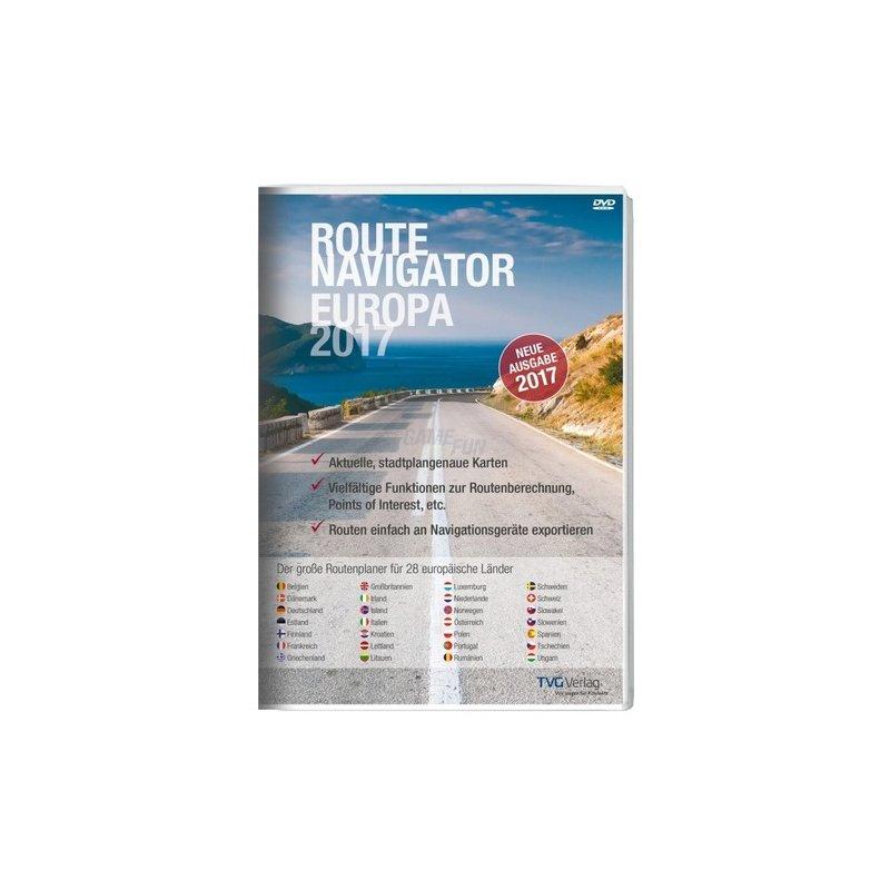 TVG Verlag RouteNavigator Europa 2017 Vollversion DVD-Box