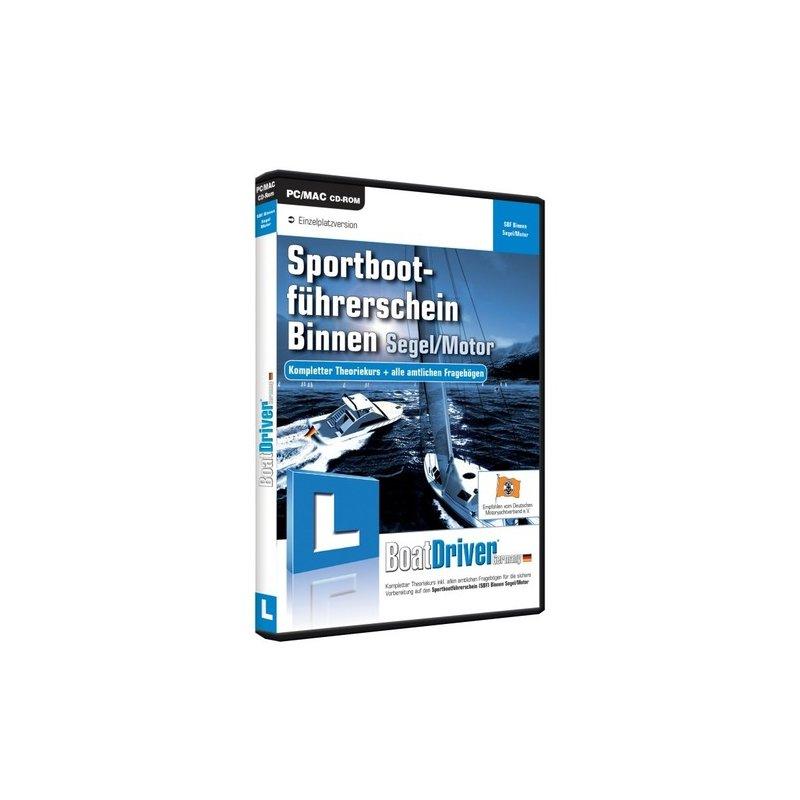 BoatDriver GmbH Sportbootführerschein Binnen Segel/Moto Vollversion DVD-Box