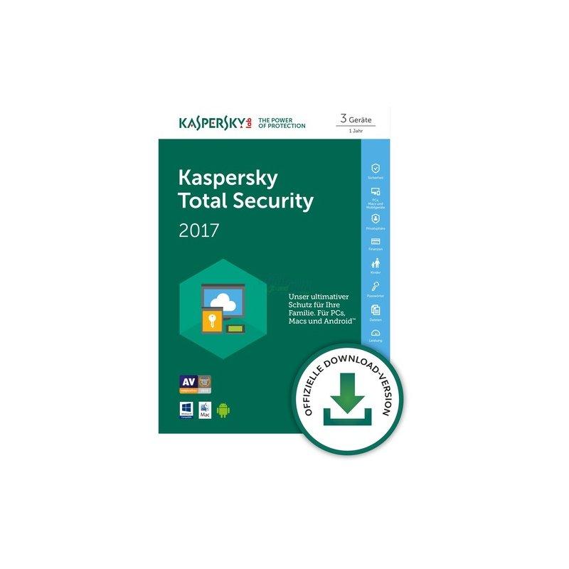 Kaspersky Total Security 3 Geräte Vollversion ESD 1 Jahr für aktuelle Version 2017