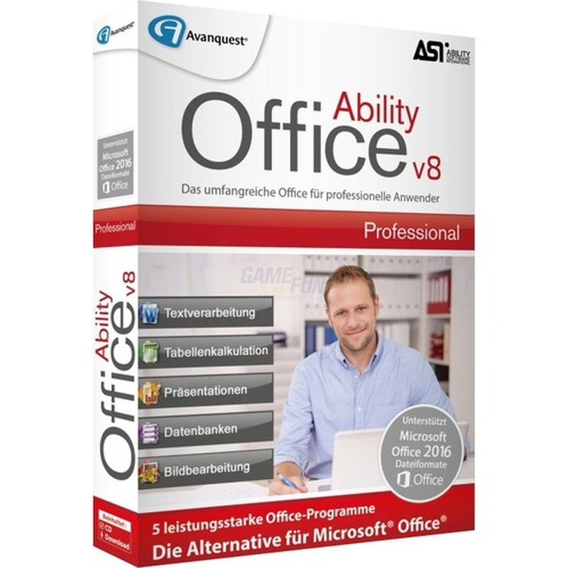 Ability Office 8 Professional Vollversion MiniBox