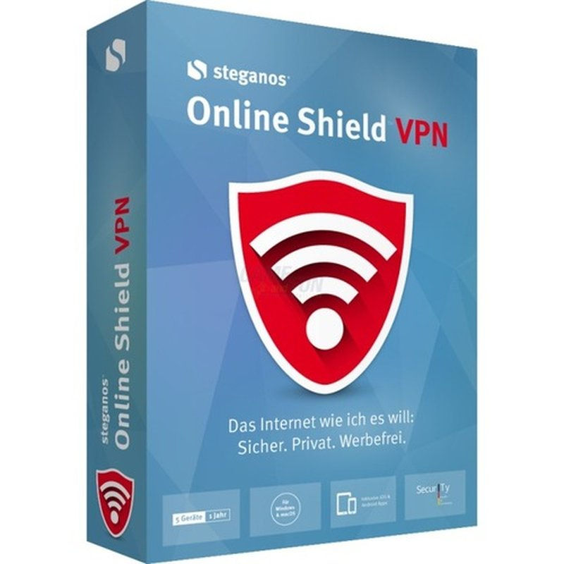 Steganos Online Shield VPN 5 Geräte Vollversion...