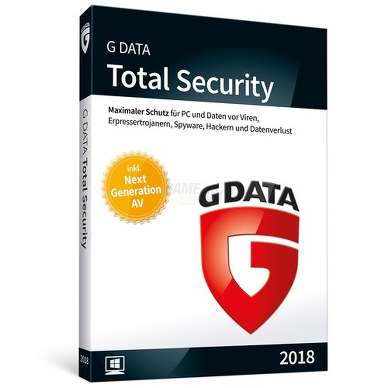 G Data Software Total Security 2018 1 PC Vollve...