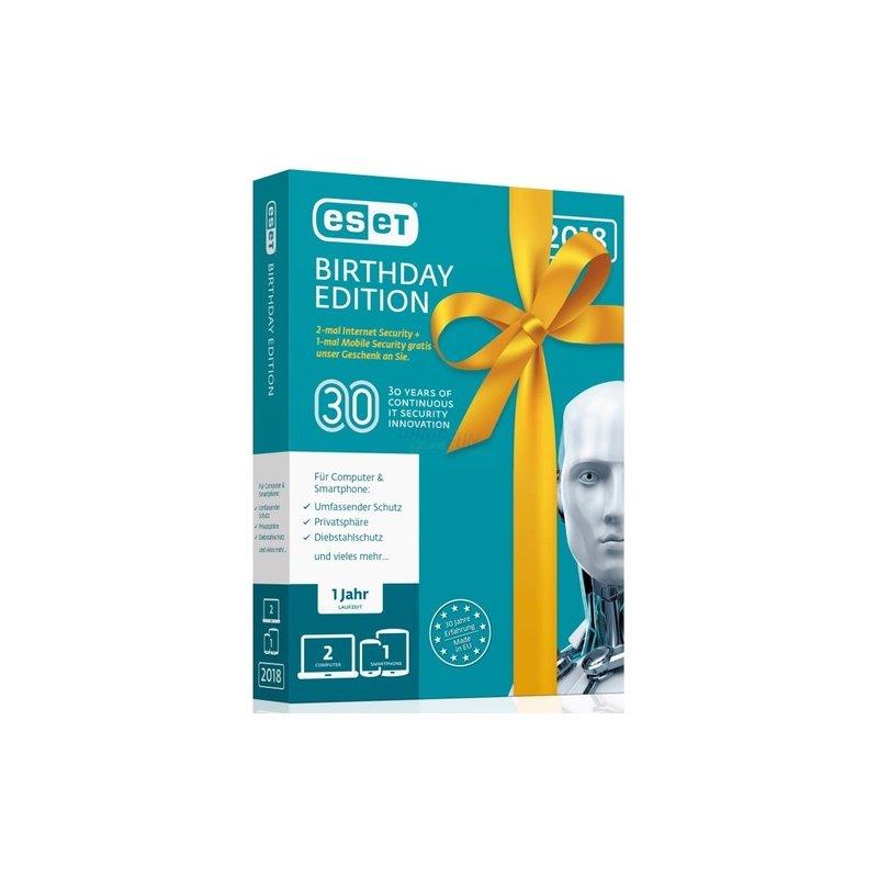 ESET Internet Security 2018 2 Computer + 1 Andr...