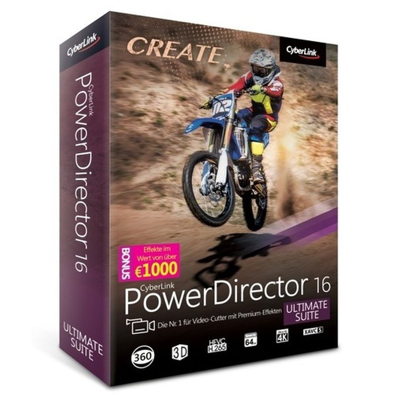 CyberLink PowerDirector 16 Ultimate Suite Vollversion MiniBox