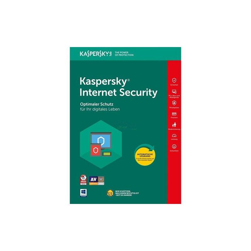 Kaspersky Internet Security 1 PC Vollversion EFS PKC 1 Jahr für aktuelle Version 2018