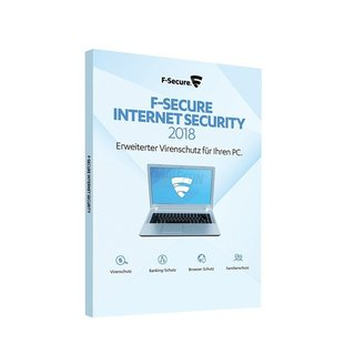 F-Secure Internet Security 3 PCs Vollversion GreenIT 1 Jahr für aktuelle Version 2018