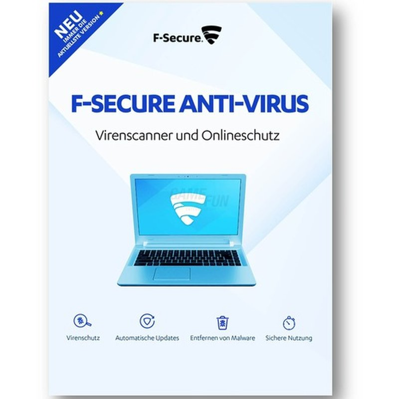 F-Secure Anti-Virus PC & MAC 1 Gerät Vollversion GreenIT 1 Jahr für aktuelle Version 2018