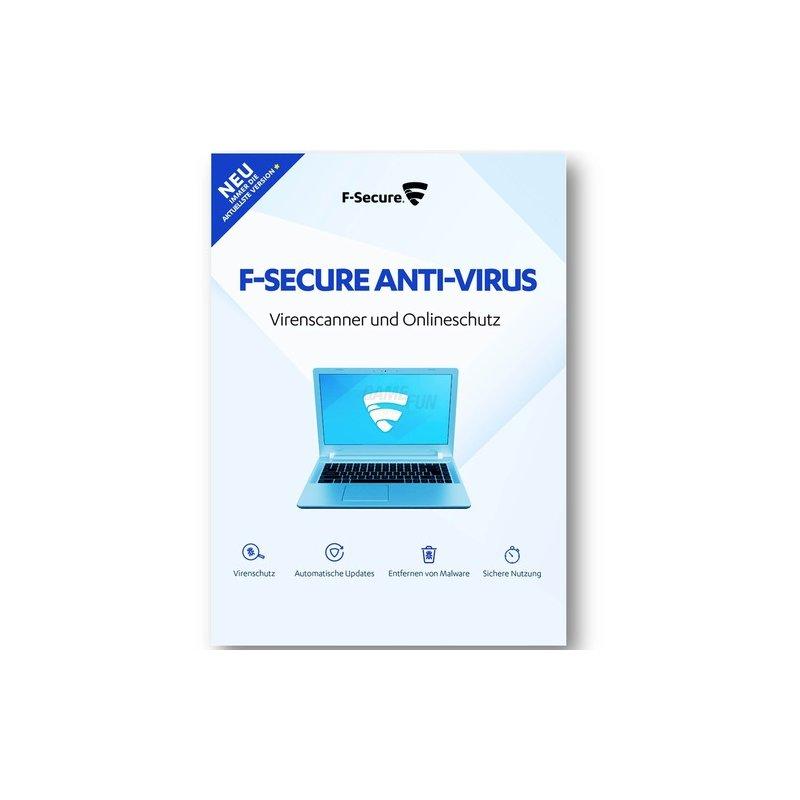 F-Secure Anti-Virus PC & MAC 3 Geräte Vollversion GreenIT 1 Jahr für aktuelle Version 2018