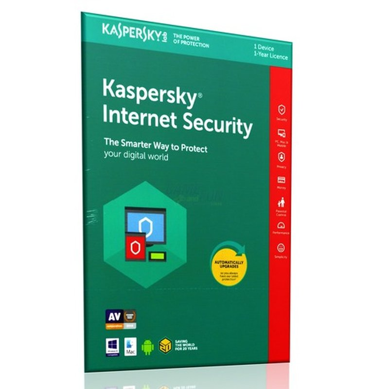 Kaspersky Internet Security 2018 ML 1 Gerät Vollversion EFS PKC 1 Jahr