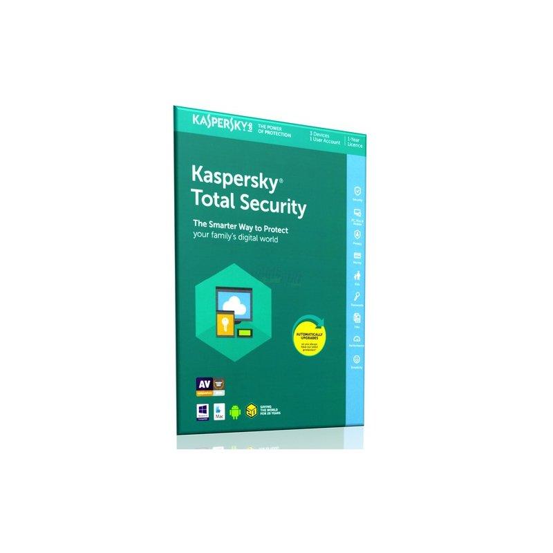 Kaspersky Total Security 2018 ML 3 Geräte Vollversion EFS PKC 1 Jahr