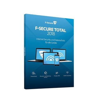 F-Secure Total Internet Security + VPN 2018 3 Geräte Vollversion MiniBox 2 Jahre