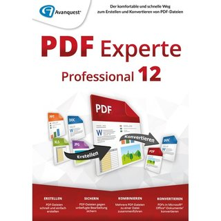Avanquest PDF Experte 12 Professional 1 PC Vollversion ESD ( Download )