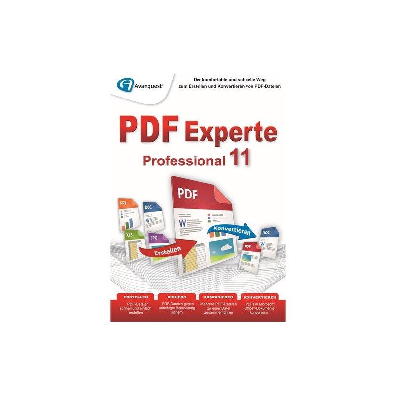 Avanquest PDF Experte 11 Professional Vollversion OEM