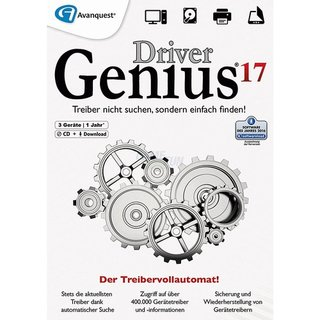 Driver Soft Driver Genius 17 3 PCs Vollversion OEM 1 Jahr