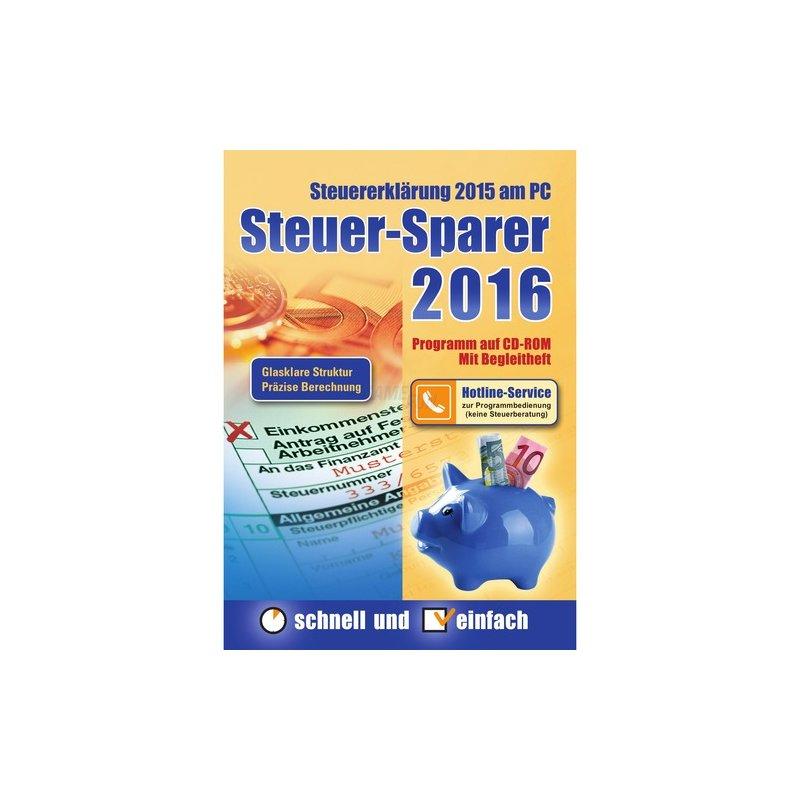 Editionnova Steuer-Sparer 2016 - Steuererklärung 2015 am PC Vollversion DVD-Box