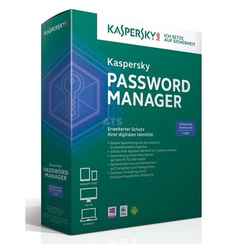 Kaspersky Password Manager 2 Benutzer Vollversion GreenIT 1 Jahr