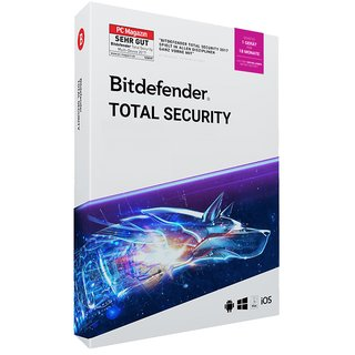 Bitdefender Total Security 2019 WIN MAC Android IOs 1 Gerät Vollversion GreenIT 18 Monate Limited Edition