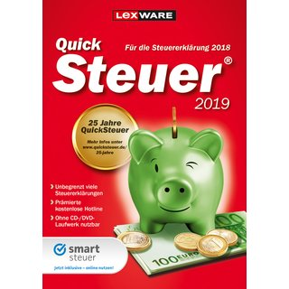 Lexware Quicksteuer 2019 1 PC Vollversion GreenIT